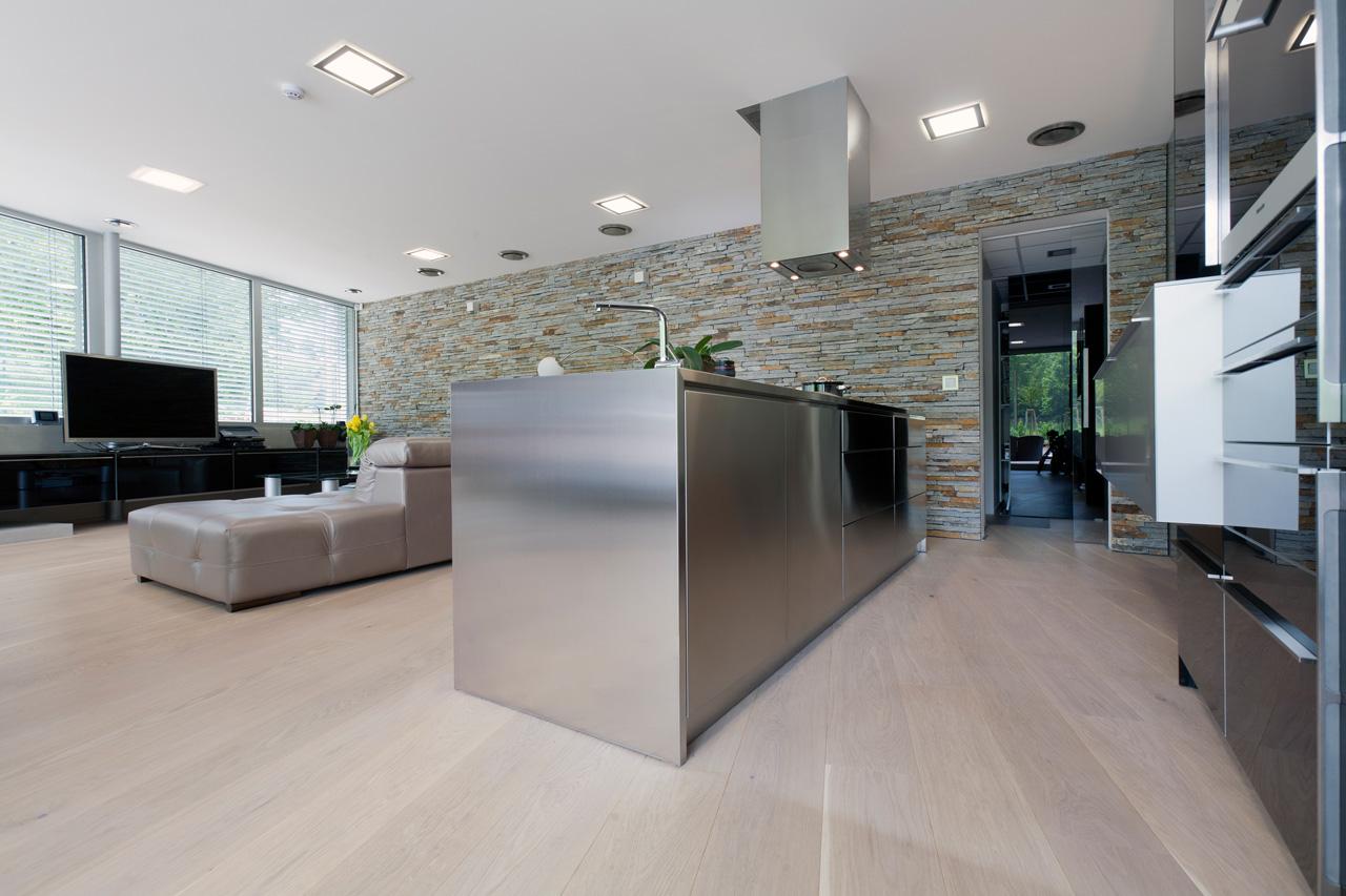 plan 3 kitchens / Rezidence I. ve Zlíně / Elegant minimalism