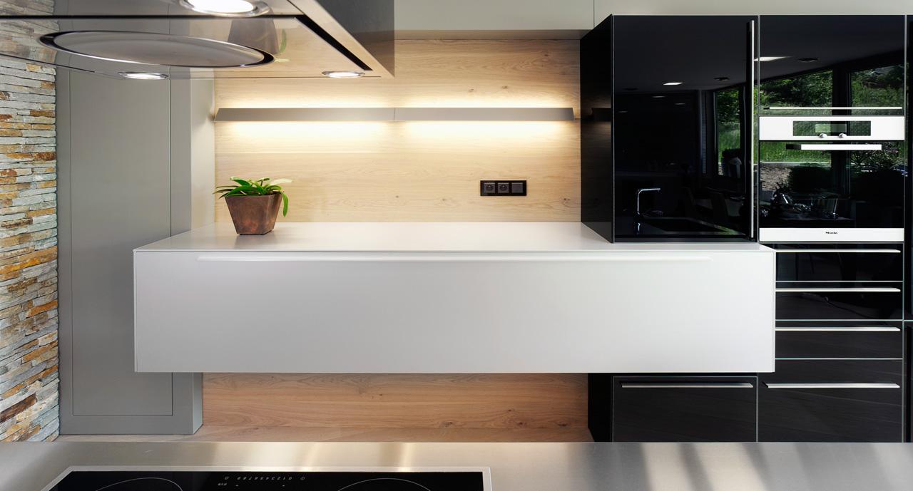 plan 3 küche / Residenz II. in Zlín / Eleganter Minimalismus