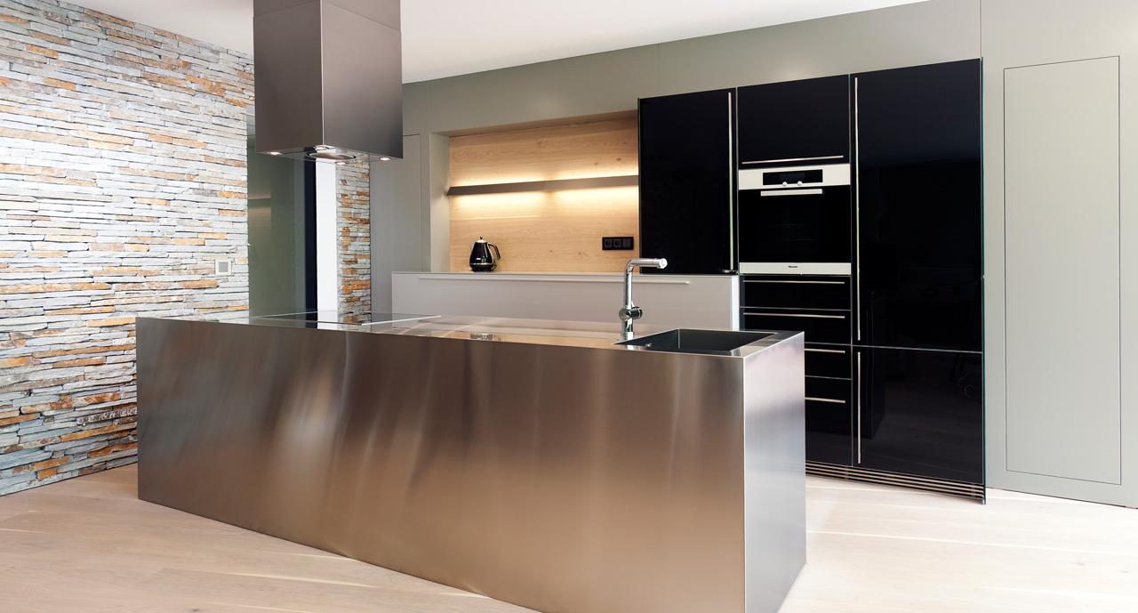 plan 3 kitchens / Residence II. in Zlin / Elegant minimalism