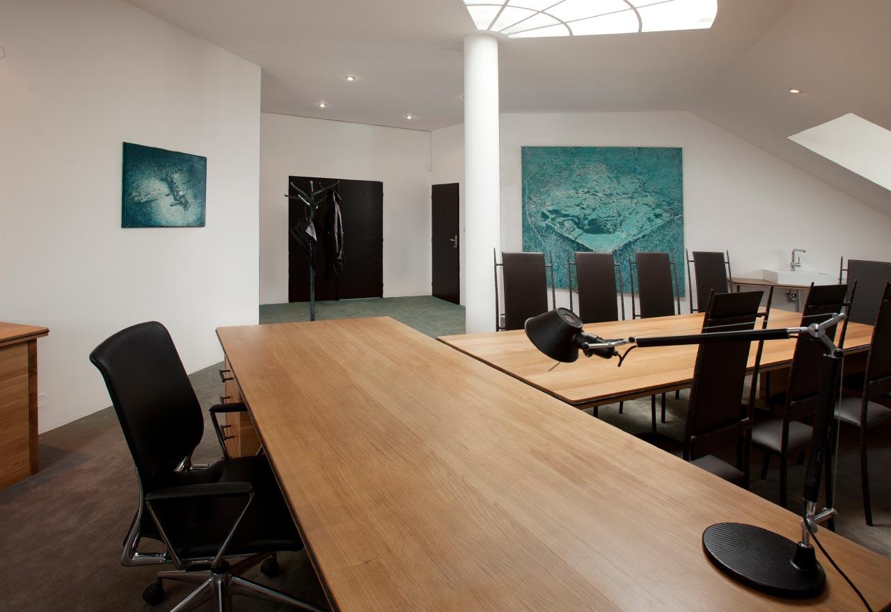 plan 3 kuchyně / Nábytek na míru do kanceláře / Umění na pracovišti