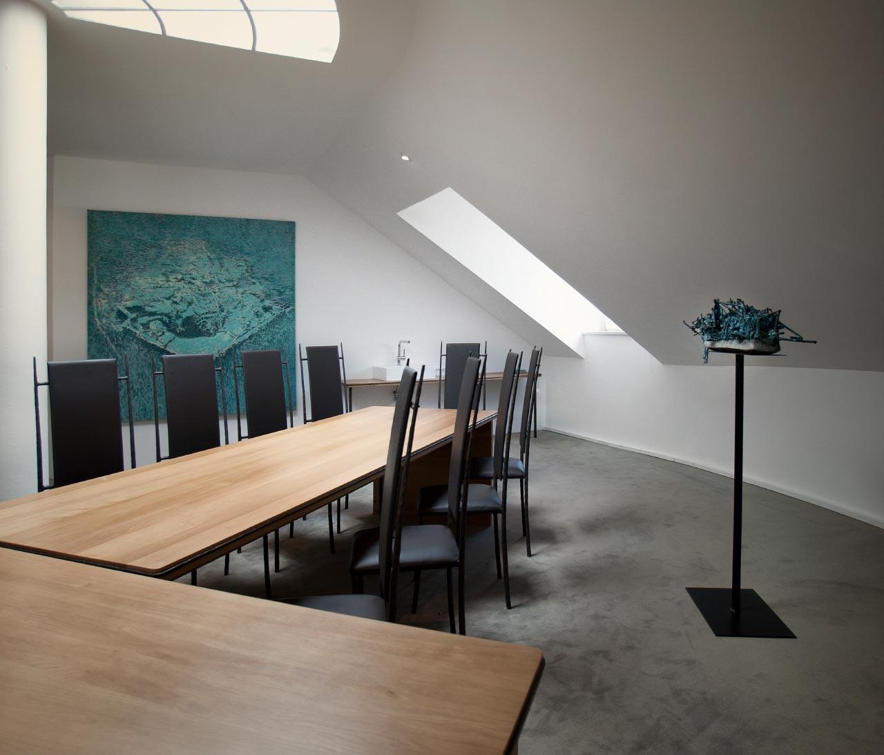 plan 3 küche / Büroeinrichtung / Kunst am Arbeitsplatz
