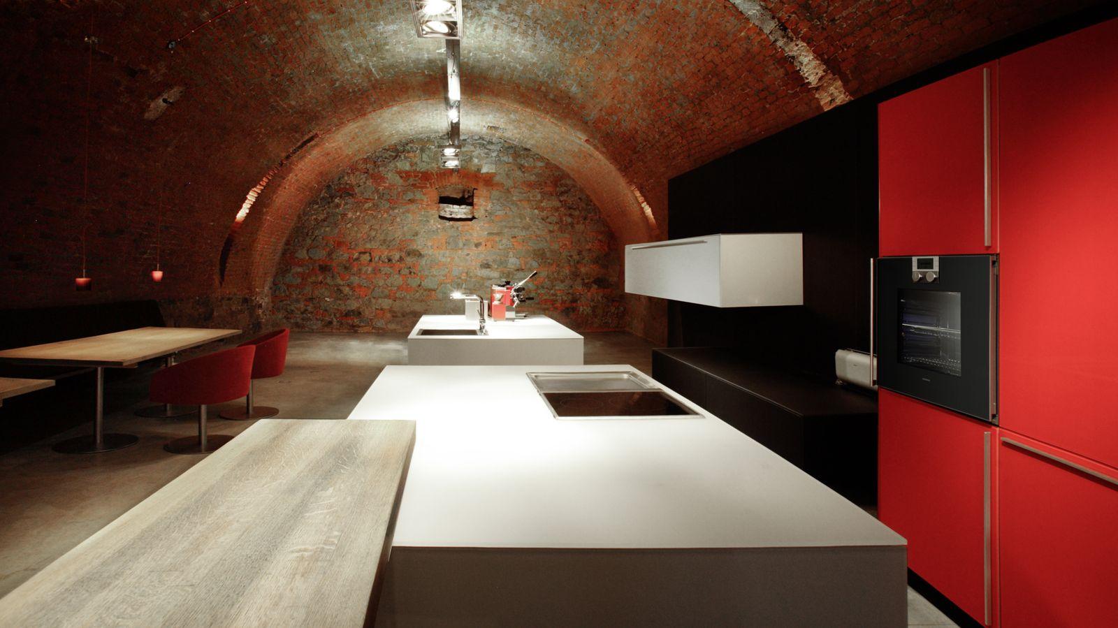plan 3 kitchens / Valcucine / Exbition of the plan 3 kitchens