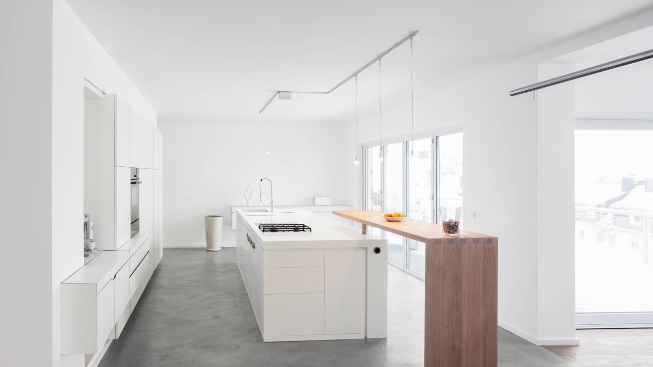 plan 3 kuchyně / Современная минималистская жизни / Гомогенный дизайн