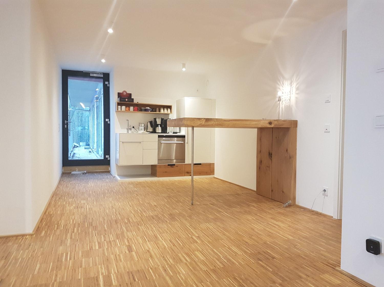 plan 3 küche / modulbüro im Hochbunker / Die Teeküche