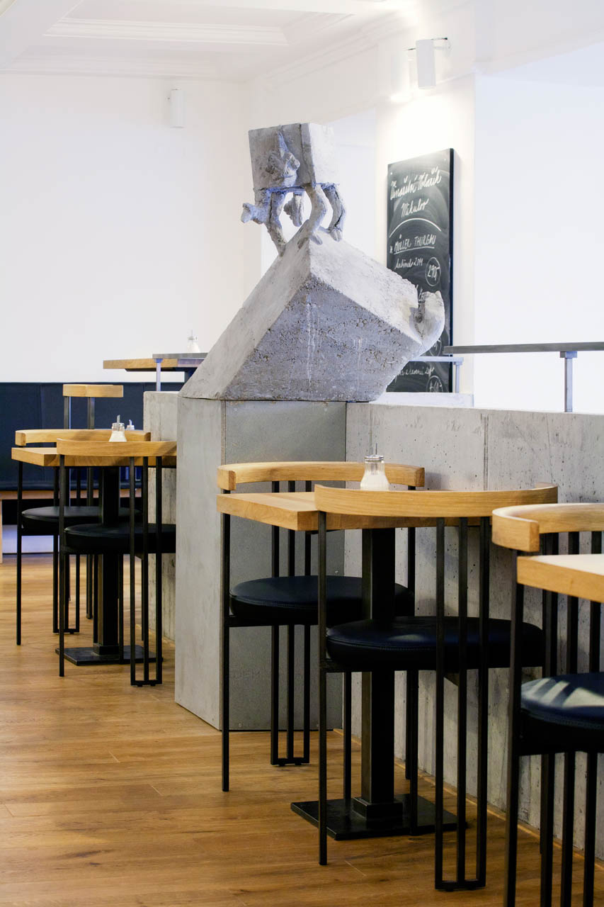 plan 3 kitchens / Jiné Café II In Uherské Hradiště / Greeting from a chameleon