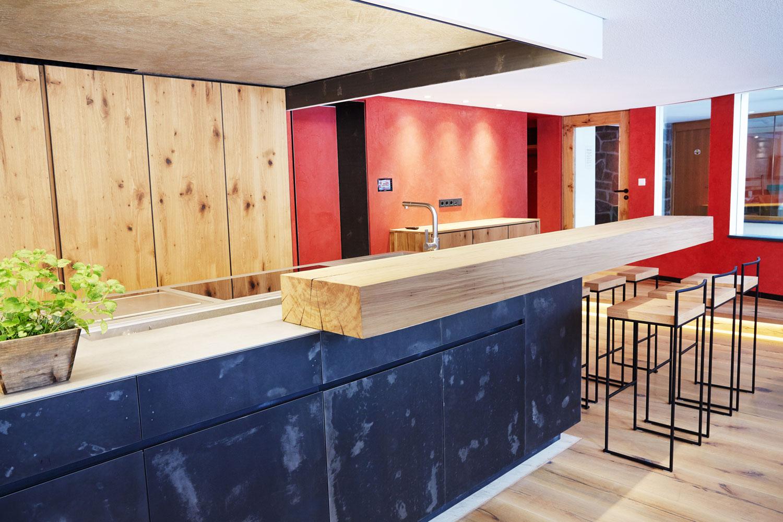 plan 3 küche / Hofstube und Kochschule im Hotel Deimann***** / Archaische Form, perfekte Funktion