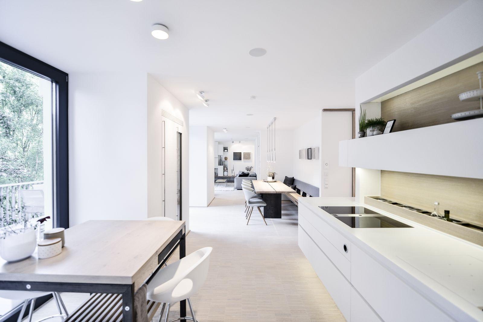 plan 3 kuchyně / Rekonstrukce nadzemního bunkru vSiegenu / Byt W