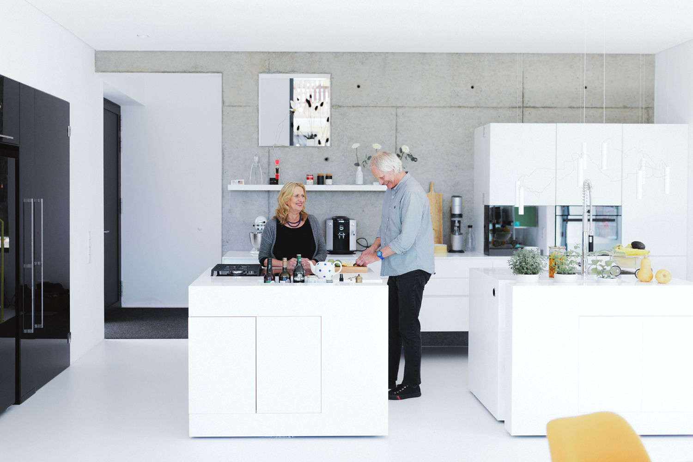 plan 3 kuchyně / Архитектор Werner Seelbach / Яркий дизайн