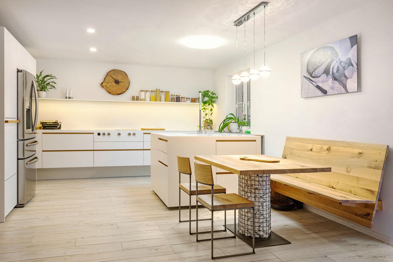 plan 3 kuchyně / Kuchyňa javor / Nadčasová štýlová kombinácia