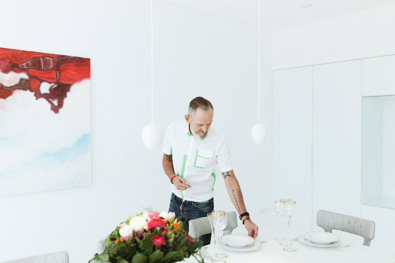 plan 3 küche / Designerwohnung / Küche mit Skulpturcharakter