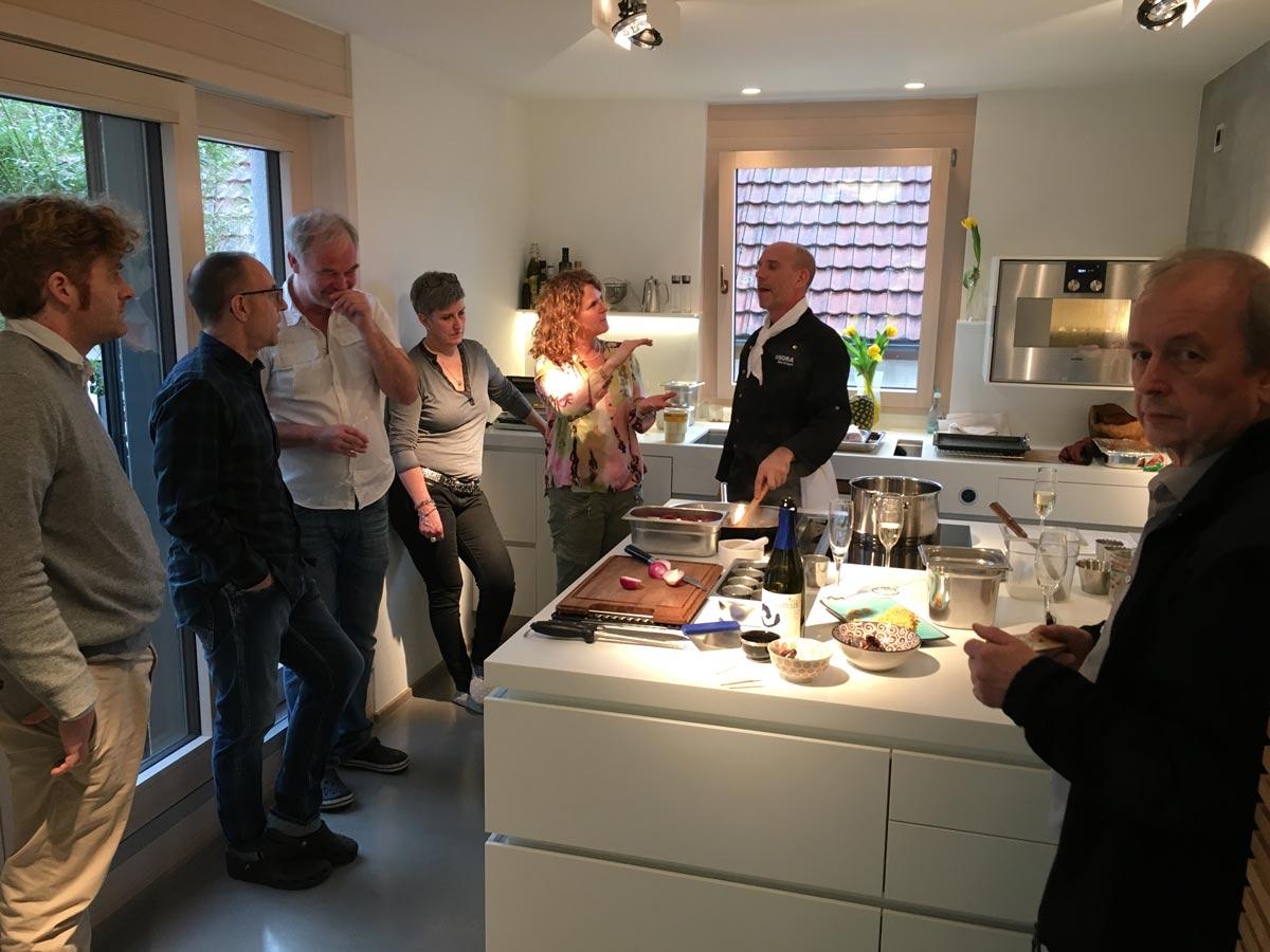 plan 3 kitchens / Culinary event / BORA