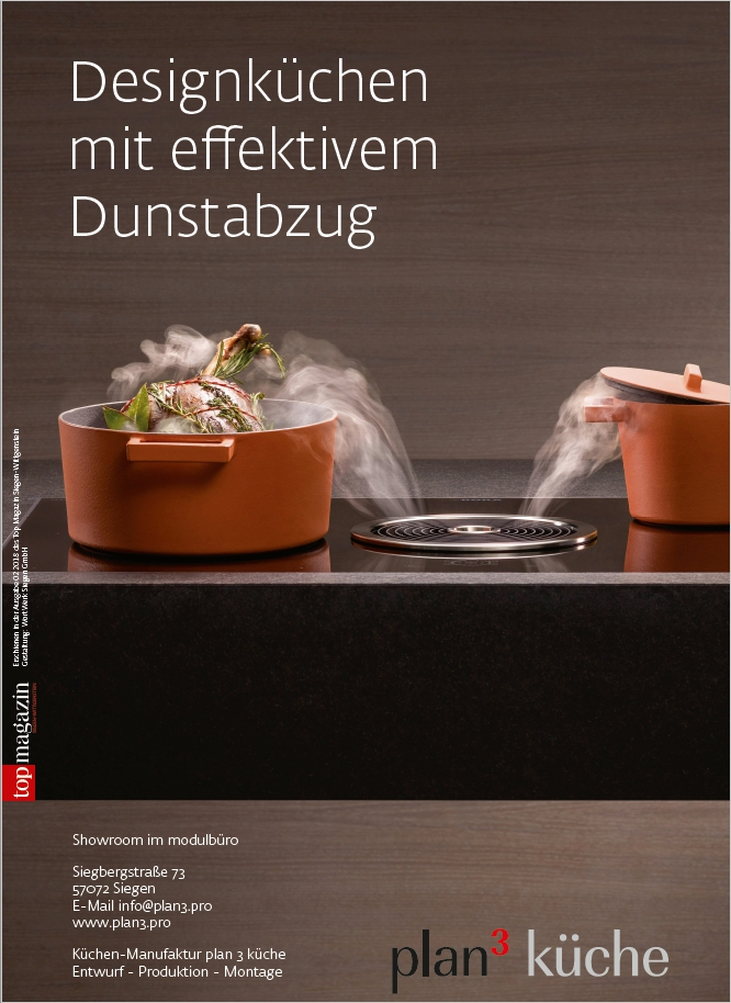 plan 3 kitchens / Kuchyně s efektivním odsáváním / TopMagazin