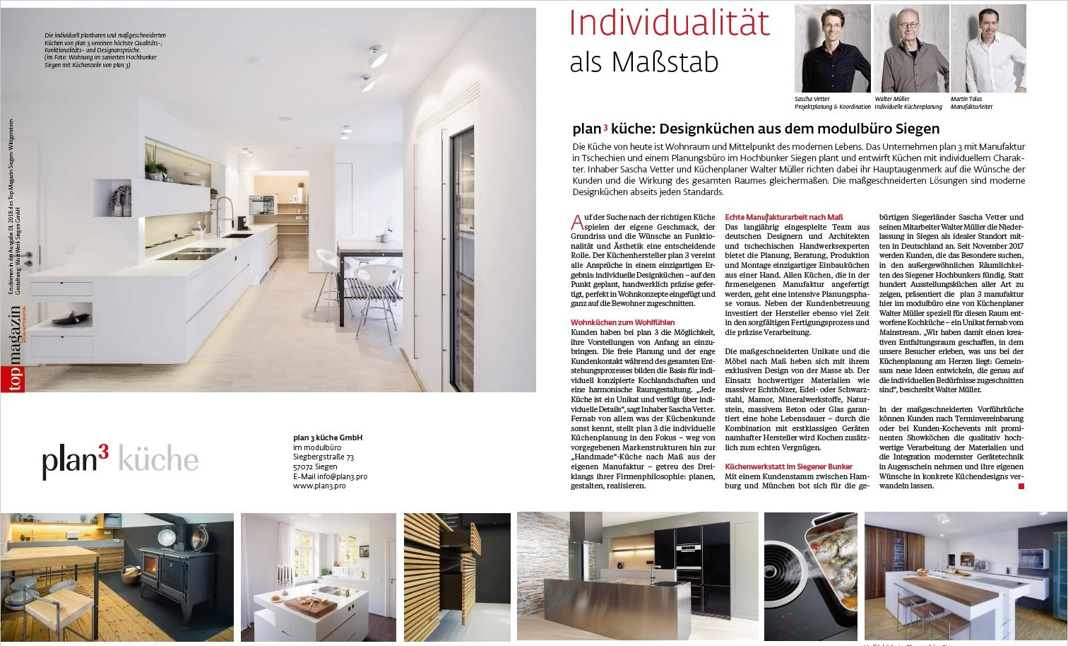 plan 3 kuchyně / Дизайнерские кухни из модельного офиса в Зигене / TopMagazin